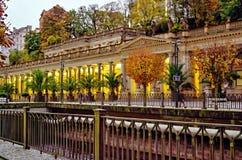 Młyńska kolumnada, Karlovy Zmienia, republika czech obraz royalty free
