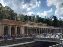Młyńska kolumnada, Karlsbadzka, Karlovy Zmienia fotografia royalty free
