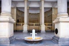 Młyńska kolumnada w zdroju grodzki Karlovy Zmienia, Zachodnia cyganeria, republika czech zdjęcia royalty free