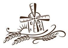 Młyn, adra, kukurudza, piekarnia ilustracja wektor