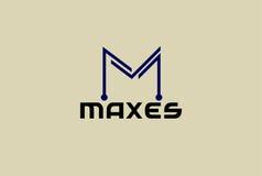 M信件商标模板传染媒介例证 库存照片