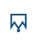 M标注姓名起首字母象6财政业务保险摘要 免版税库存图片
