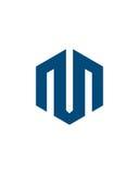 M标注姓名起首字母象2财政业务保险摘要 免版税库存图片