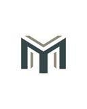 M标注姓名起首字母象4财政业务保险摘要 图库摄影