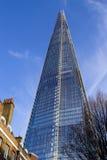 306m角度是楼房建筑铕hdr地标伦敦新的scrapper碎片射击天空细微的最高的下面宽意志 图库摄影
