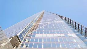 306m角度是楼房建筑铕hdr地标伦敦新的scrapper碎片射击天空细微的最高的下面宽意志 免版税库存照片