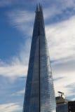 306m角度是楼房建筑铕hdr地标伦敦新的scrapper碎片射击天空细微的最高的下面宽意志 免版税图库摄影