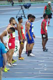 100m运动员 库存图片