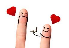 M'épouserez-vous ? concept de valentine. Image stock