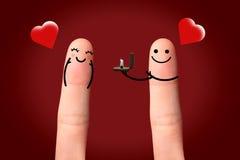 M'épouserez-vous ? concept de valentine. Photographie stock libre de droits