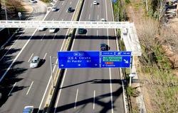 M30 αυτοκινητόδρομος στη Μαδρίτη στοκ φωτογραφία με δικαίωμα ελεύθερης χρήσης