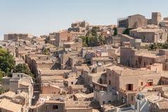 750m επάνω από aegadian γύρω από capo πόλεων ακτών comune del το δραματικό marsala της Ιταλίας νησιών ανατολικού erice ιστορικό τ Στοκ εικόνα με δικαίωμα ελεύθερης χρήσης