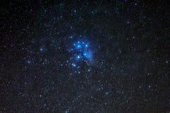 M45, συστάδα Pleiades ή οι επτά αδελφές στοκ εικόνα με δικαίωμα ελεύθερης χρήσης
