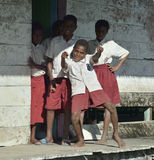 14000m2 1572 1954 скрещиваний de Колумбии boyaca колониальных основало ребенокев школьного возраста площади домашнего памятника l Стоковые Фотографии RF