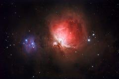 M42、NGC1977 -猎户星座和连续人星云 库存照片