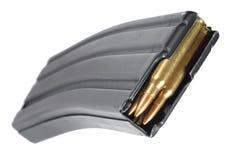 M-16与弹药筒的杂志 库存照片