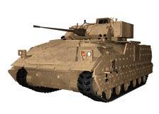M2布雷得里作战车辆在沙漠布朗 库存照片