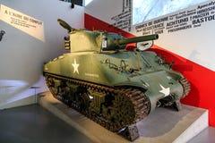 M4谢尔曼坦克在博物馆 库存图片
