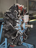 M-25A - 飞机发动机(1934) 力量,马力730 申请在ai 免版税库存照片