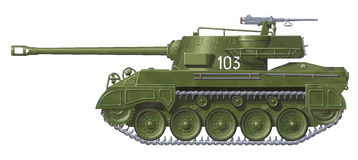M-18 Hellcat vector illustratie