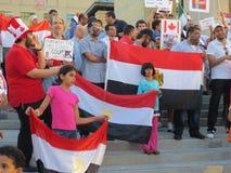 埃及抗议密西沙加M 免版税库存照片