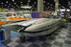 M-35 boat on display at the Los Angeles Boat Show on February 7, Stock Images