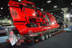 M-41 boat on display at the Los Angeles Boat Show on February 7, Royalty Free Stock Photo