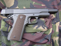 军用枪m1911 库存图片