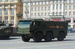 Высокий уровень безопасности броневой машины всеобщий защищенная засада шахты упорная (m Стоковое Изображение RF