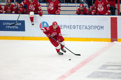 M. Afinogenov (61) in action Royalty Free Stock Photography