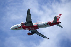 9M-AFP Airbus A320-200 d'Air Asia Photos stock