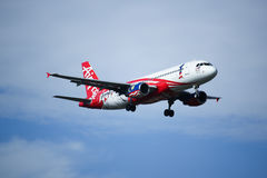 9M-AFP Airbus A320-200 d'Air Asia Images libres de droits