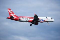 9M-AFP flygbuss A320-200 av Airasia Royaltyfri Bild
