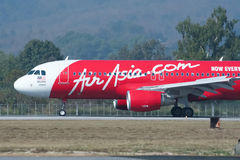 9M-AHC  Airbus A320-200 of Airasia Royalty Free Stock Images