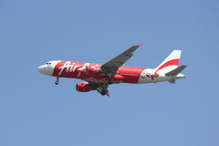 9M-AHM Airbus A320-200 de Air Asia Imagens de Stock Royalty Free