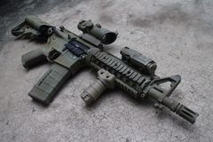 M4a1 airsoft枪 库存图片