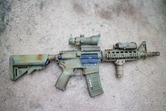 M4A1 airsoft gun Royalty Free Stock Photography