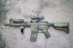 M4a1 airsoft gun Royalty Free Stock Photo