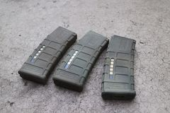M4a1 airsoft magazine Stock Photo
