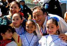 M. Amigo en kinderen op de fiesta van Dagen Charro Stock Fotografie