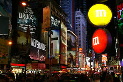 M&M-Speicher-Times Square New York City Lizenzfreies Stockbild