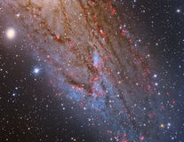 M31 Andromeda Galaxy Closeup stock photo