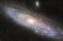 M31 the Andromeda Galaxy. A picture of M31, the spiral galaxy in the constellation Andromeda stock illustration