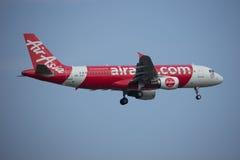 9M-AQG Airbus A320-200 de Air Asia Imagens de Stock