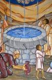 målande sakralt vatten royaltyfria bilder