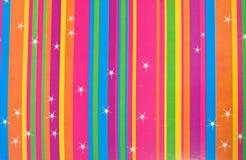 mångfärgade stjärnaband Arkivbild