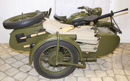 M-72 - Army motorcycle with a machine gun DP, 1941 Royalty Free Stock Photos