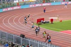 200 m-Athlet Lizenzfreies Stockbild
