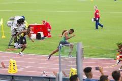 200 m-Athlet Lizenzfreies Stockfoto