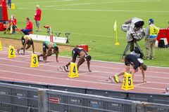 200 m-Athlet Stockfotos